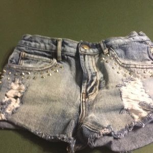 Forever 21 studs decal Jean shorts